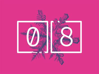 2017 Design Trends - Asymmetrical Design asymmetrical snowflake type treatment type numbers minimal 2 color duotone