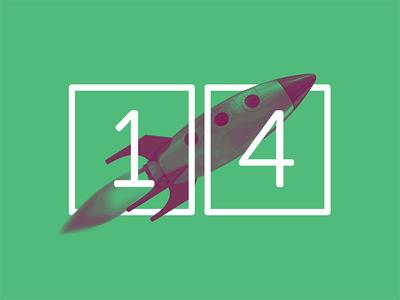 2017 Design Trends - Speedy Sites speedy fast rocketship rocket type treatment type numbers minimal 2 color duotone