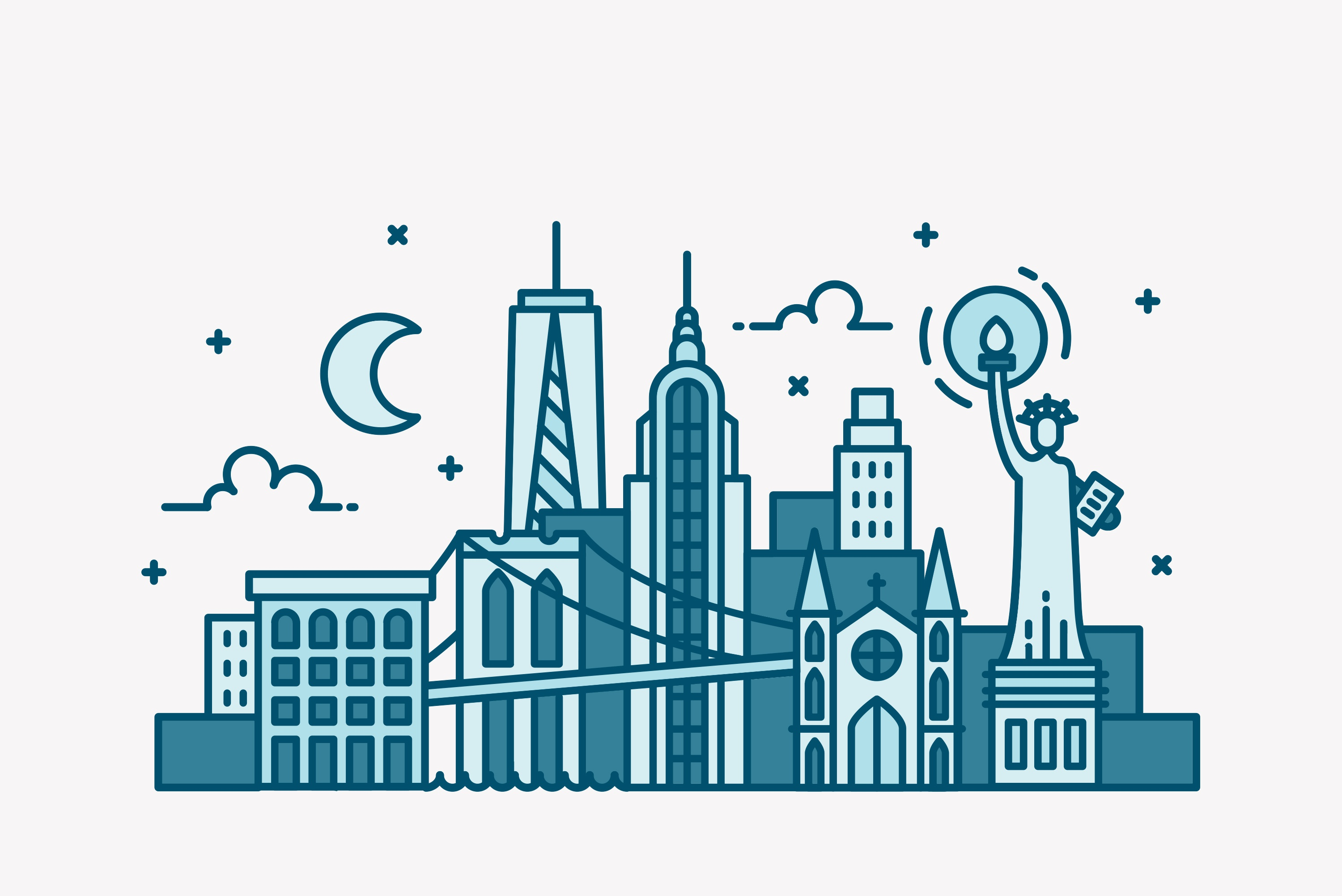 Dribbble skylines 3000x3000 0007 new york city skyline
