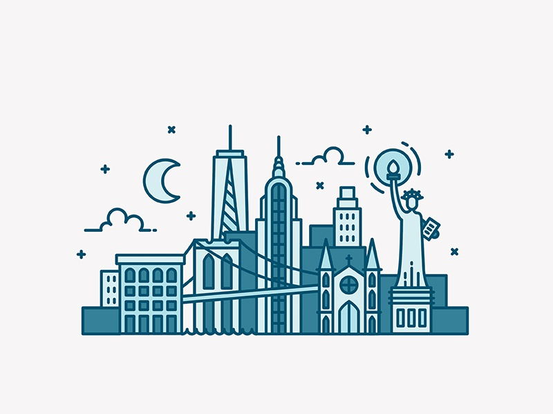 Dribbble skylines 800x600 0008 new york city skyline