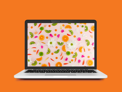 Cuties and Kiwi Wallpaper wallpaper screen pattern nature natural floral kiwi pink fruit desktop background