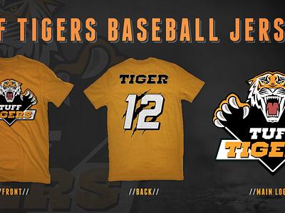 Tuff Tigers Baseball Jersey animal tiger baseball jersey shirt logo base sport sports clothing diamond icon