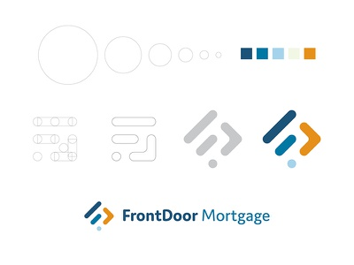 Front Door Mortgage - Logo Construction and Mocks ratio golden palette icon mark construction logo mortgage door front