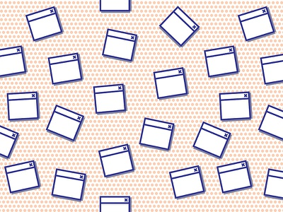POP GUI surface vector tileable pop art user interface graphical pattern