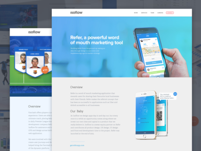 Case studies app blue isoflow web mobile ui case study