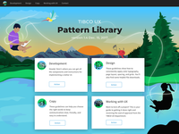 UX Pattern Library Landing Page