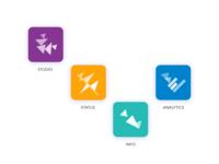 Geometric app icons