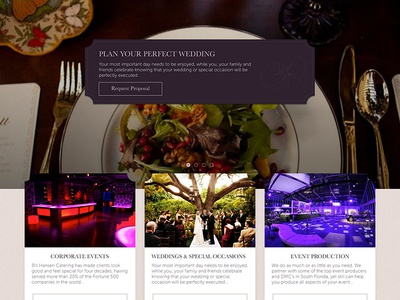 Luxury Catering Redesign Proposal web design luxury wedding catering