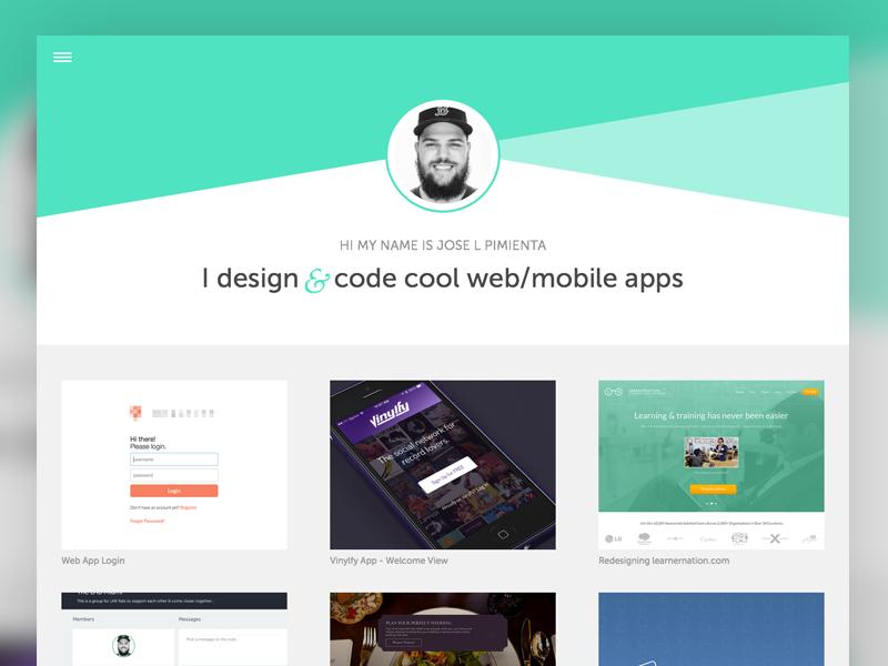 Portfolio WIP web design portfolio