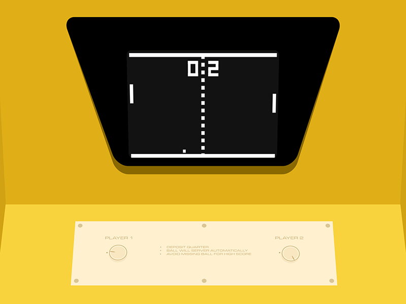 WIP Arcade pong web css design game arcade video game
