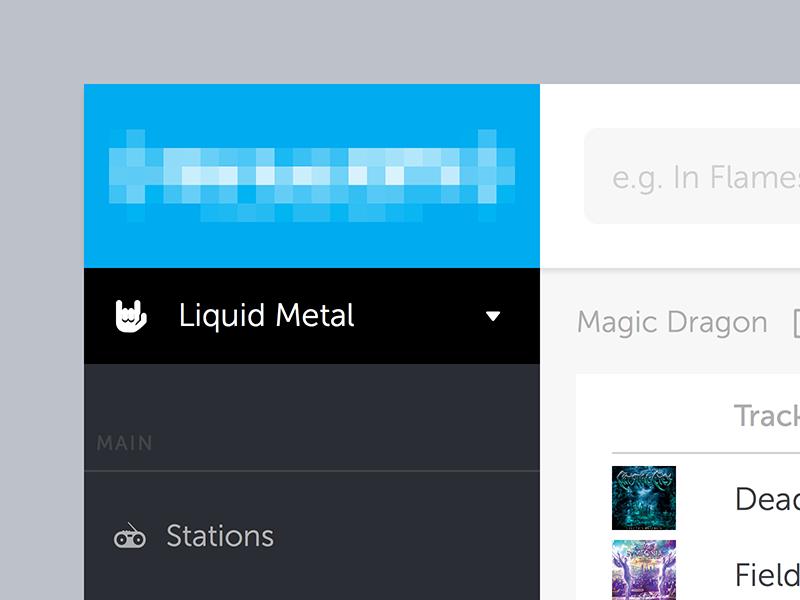 WIP - Liquid Metal UI app webapp navigation design metal ui