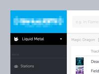 WIP - Liquid Metal UI