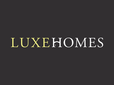 LuxeHomes Logo luxury homes real estate design branding brand logo