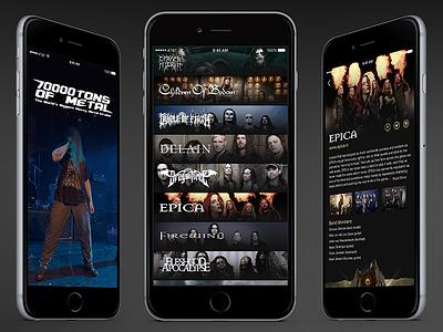 70k Of Metal App Concept heavy metal concept 7000tons list bands app festival metal