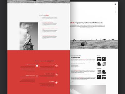 Mark: free PSD template template website design dribbble layout web design psd html