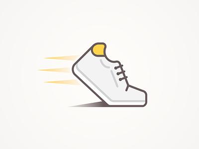 Endurance endurance icon shoe running flat movement vector illustration twerkin