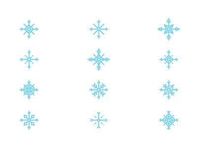 Fat Snowflakes snowflakes holidays