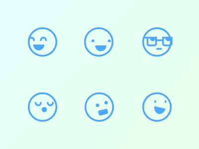 Lil Dudes avatars faces smiles wireframing
