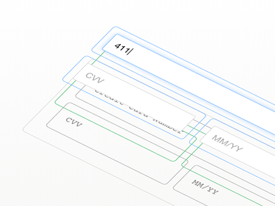 Hosted Fields checkout animation 3d css