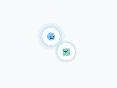 Humans <3 Bots love icons humans ai bots