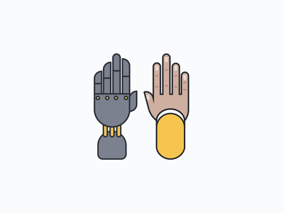 Augment hands humans bots illustration