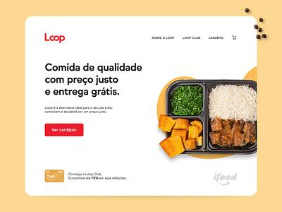 iFood Loop landing page concept ui loop ifood lp landing page