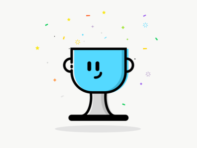 Champions Trophy cute champions sketchapp vector illustration icon trophy