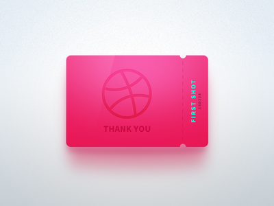 First shot icon pink ui tomhands photoshop thank invite ticket dribbble debuts