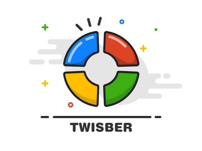 Twisber for Fun outline line layout illustration icon graphic app icon tomhands app