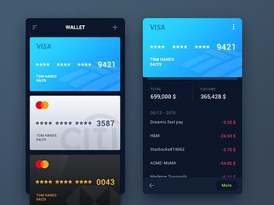 WeeklyUI #002 visa finance app card debit credit payment ui tomhands wallet