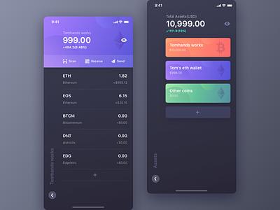 Tokenbill V1.0 part.2 tomhands token stock purple eth eos chart candlestick btc bitcoin app