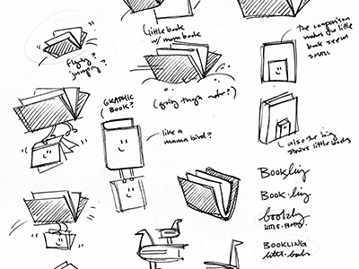 'Bookling' Logo Sketches