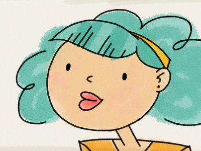 Turquoise-Haired Girl