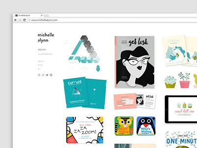 Portfolio Splash Page design clean minimal screen web design web projects update splash page portfolio