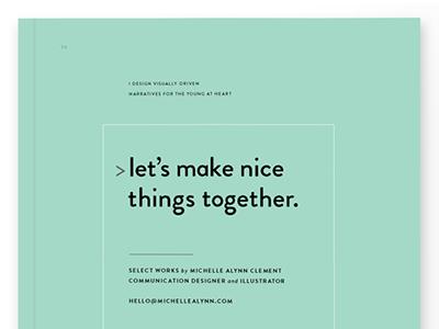 Print Portfolio Cover design clean minimal turquoise booklet front cover cover portfolio print