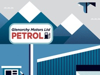 Glenorchy Motors art print