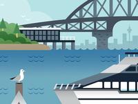 Auckland Commuter art print
