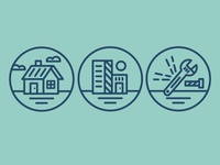 3 x Quick icons for an Electrical company