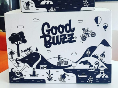 Good Buzz Kombucha box packagedesign packaging illustration