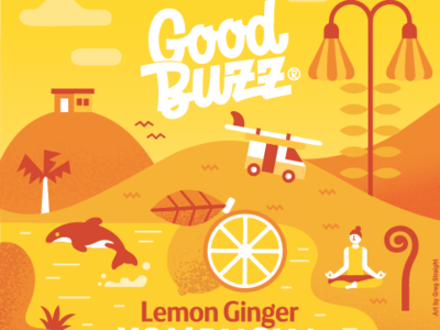 Good Buzz - Lemon Ginger packagedesign package label design label illustration