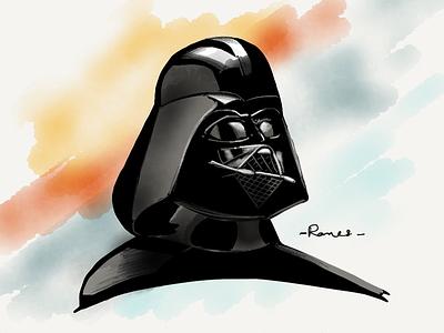 iPad Drawing : Darth Vader  darth vader darthvader starwars character doodle ipad paperapp paper madewithpaper