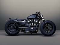 Vector Art - Harley Davidson Sportster Custom