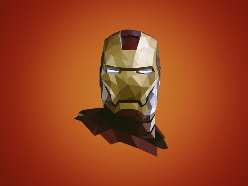 Iron Man - Poly ironman polygon flash marvel character superhero iron man hero movie