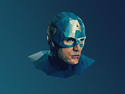 Captain America - Poly superhero flash cs6 marvel captainamerica captain america movie polygon character hero