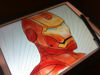 "IronMan using ""Paper"" app for iPad"
