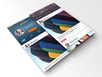 Timeline & Profile Screens