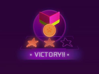 Victory!! art direction design color icon ui stars