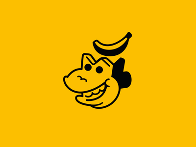 Monkey Banana banana stroke outline brand icon