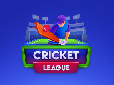 Cricket League game brand logo tier