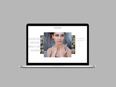 Sanda Vidmar website concept webdesign graphics agency jewelry branding